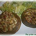 Champignons farcis au jambon de vendée