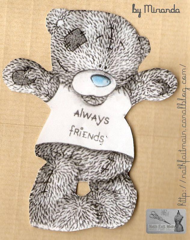 Gabarit ourson Tatty Teddy