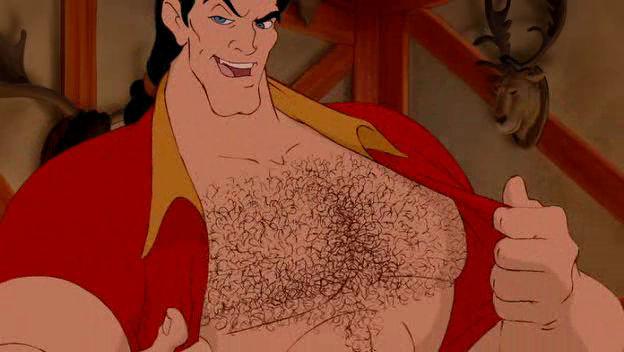 Gaston dans La Belle et la Bête