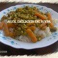 Mon riz aux petits pois/carottes