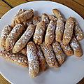 DOIGTS DE FEE COCO-CITRON (<b>sans</b> gluten)