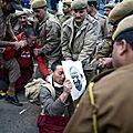 Hu jintao en inde : manifestations et répression