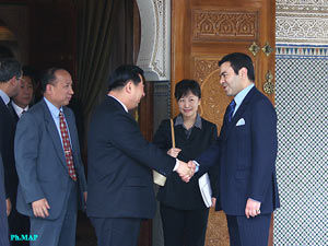 Rabat, Apr.23 - HRH Prince Moulay Rachid received china's deputy-prime minister Hui Liangyu.