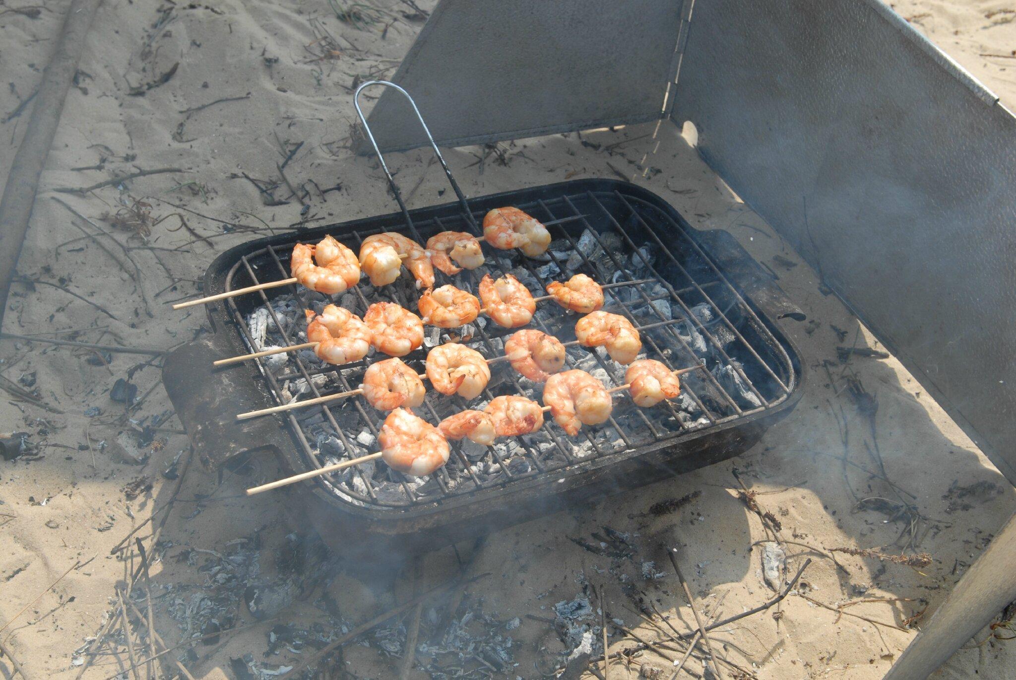 barbecue de gambas