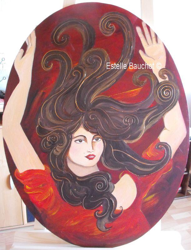 Liesse, acrylique sur toile, 80x60cm
