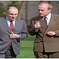 Hubert Védrine et François Mitterrand
