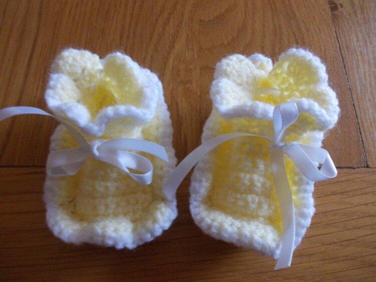 Chaussons fleurs