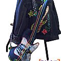 <b>Guitare</b> doudou Rockabily - MK & Co Design