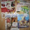 qqs magasines+livre ours tricot