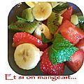 Salade de fruits qui reveille