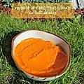 Purée de carotte au lait de coco