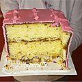 Gâteau Oeillets coupé