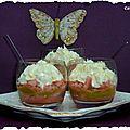 Tiramisu à la rhubarbe