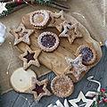 Biscuits sablés aux noix fourrés