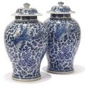 A collection of Chinese blue <b>and</b> white at Chrostoe's Interiors