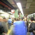 L'arrivée dans le métro