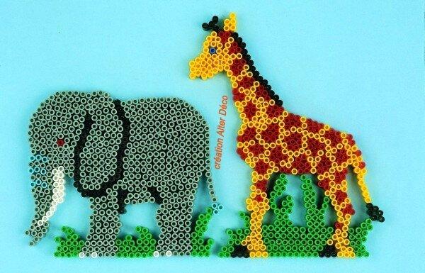Elephant Girafe perles à repasser