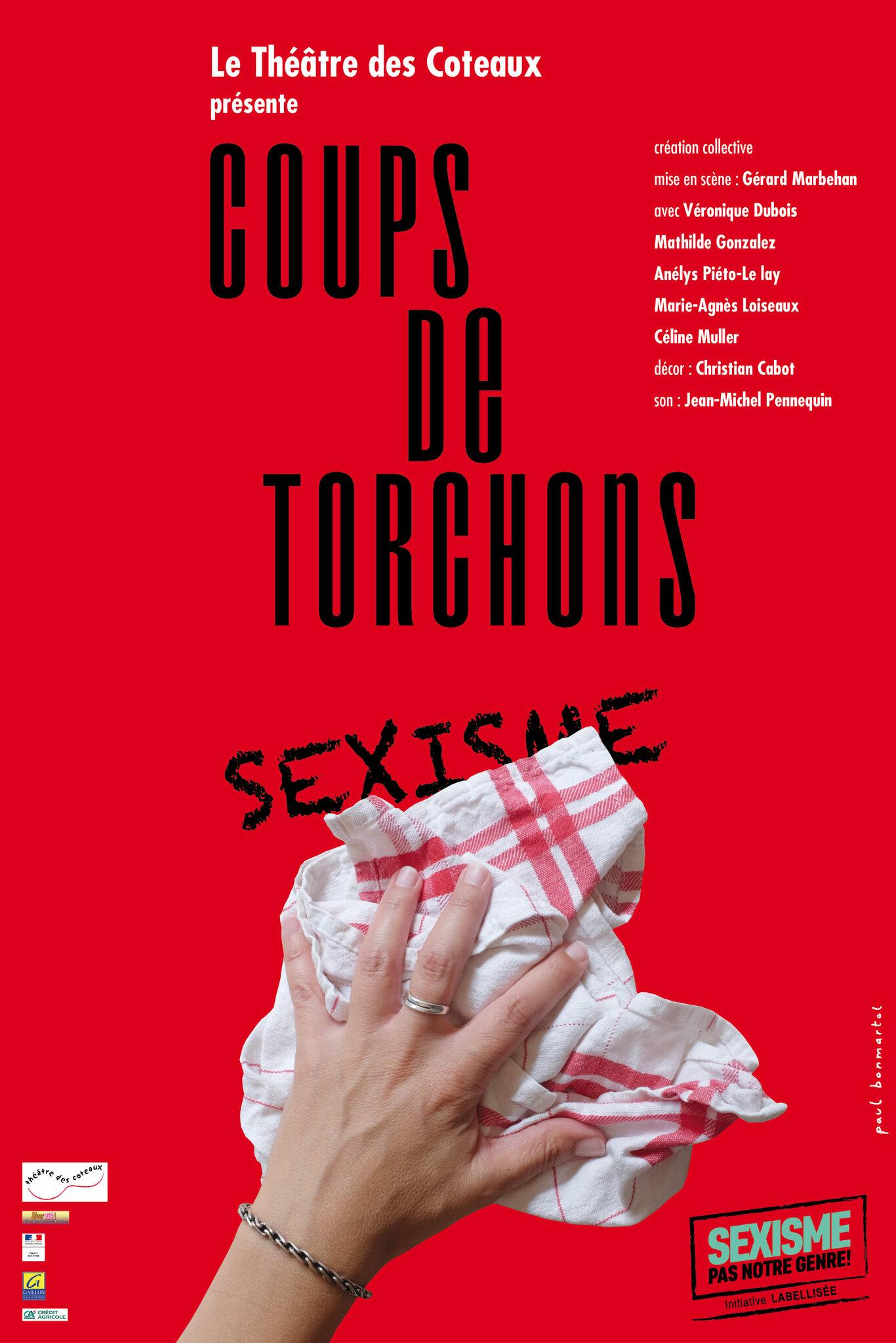 Divercité! co-produit COUPS DE TORCHONS, le spectacle qui nettoie les inégalités entre les femmes et les hommes