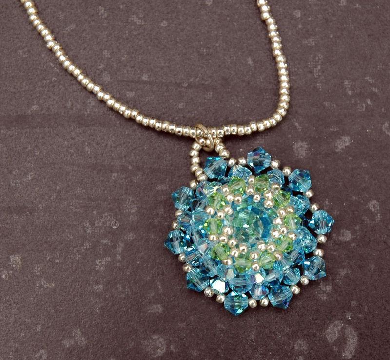 Flocon , Collier en perles de cristal