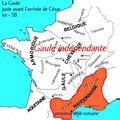 Gaule indépendante et Gaule romaine en 58 avant J.-C.