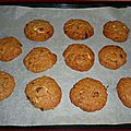 American choco nutell' cookies .