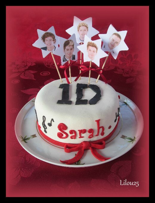 deco gateau one direction