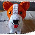 Petit chien welsh <b>Corgi</b> au crochet