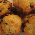Petits cookies aux raisins et parmesan