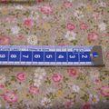 LIBERTY FOND ECRU , 40 X55 , 3€70
