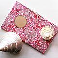 Cahier Journal fleuri rose corail