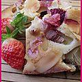 Moelleux fraise rhubarbe