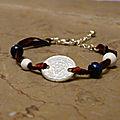 Bracelet Pièce de Monnaie- Souvenir de Voyage ou Cadeau d'<b>Anniversaire</b> Original