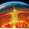 Le <b>champ</b> <b>magnétique</b> terrestre s'<b>inverse</b> au rythme de la tectonique des plaques