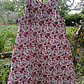 Robe trapèze 6 ans fleurie rose