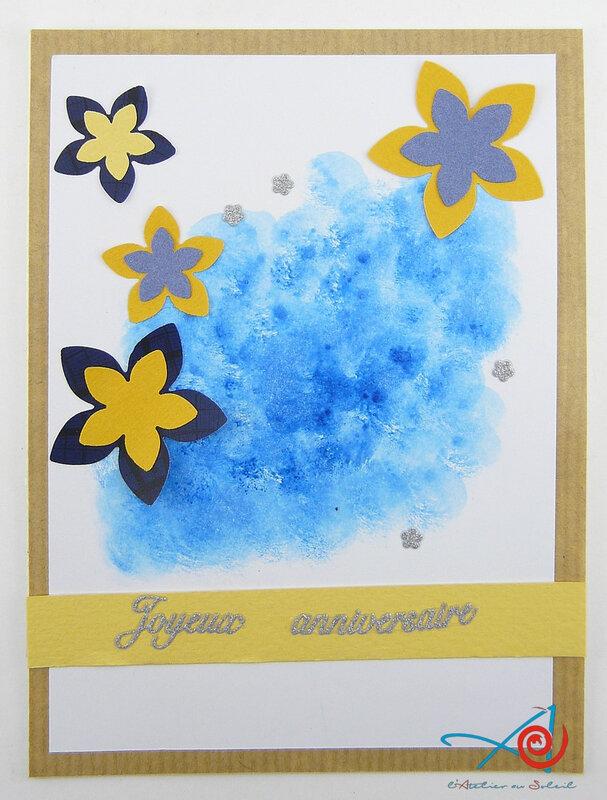 Carte nuage bleu L'Atelier au soleil