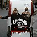 Photo de la Fondation Bardot - action anti fourrure
