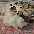 Riz au lait d'automne : amande & noisettes