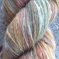 célibataire lama/mérinos avec séquences de couleurs