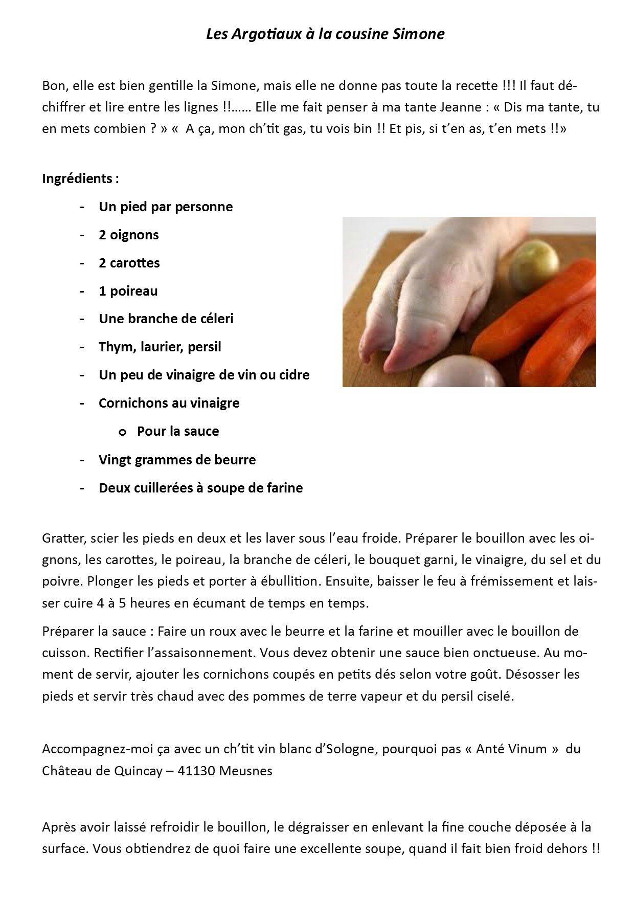 recette Argotiaux