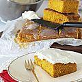 Cake moelleux à la <b>citrouille</b> et aux épices, glaçage fouetté au cream cheese