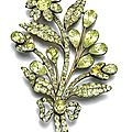 Chrysoberyl brooch, probably portuguese, second half of the 18th century