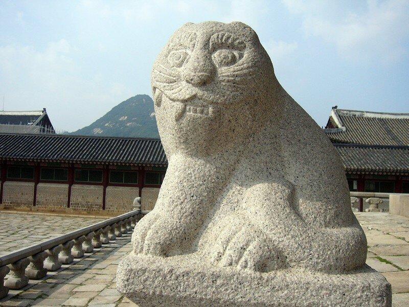 Tigre, gardien du palais