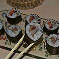 Maki au hareng fumé / maki au saumon fumé