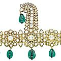 An 18th century Indian <b>emerald</b> and diamond sarpech, Deccan, late 18th-early 19th Century