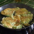 Galettes courgettes/pommes de terre