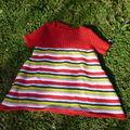 Robe en coton de Phildar, taille 1 mois