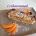 Tarte abricots/pistache