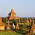 Bagan <b>Birmanie</b> <b>carte</b> : les quartiers de Bagan