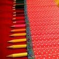 Trousse à crayons à enrouler...