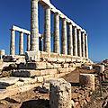 Les plus beaux sites du Péloponnèse en voilier - Jour J+6: Visite du Temple de Poséidon soirée à Lavrio. Temple of Poseidon